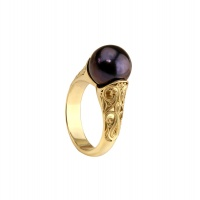 ANTIQUE BLACK PEARL RING