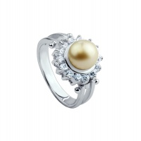 ANTIQUE PEARL HALO RING