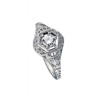 ARTDECO WHITE GOLD RING