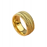 BRAID YELLOW GOLD BAND