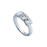 CLASSIC TRILOGY WHITE GOLD RING