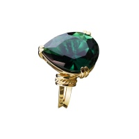 EMERALD PEAR SHAPE RING