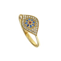 EVIL EYE PAVE RING