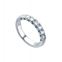 FILIGREE HALF ETERNITY WHITE GOLD RING