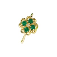 FOUR LEAF CLOVER EMERALD RING