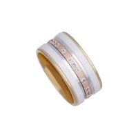 HARMONY CERAMIC ROSE GOLD BAND