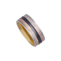 HARMONY CERAMIC WHITE GOLD BAND