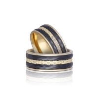 HARMONY CERAMIC YELLOW GOLD BAND
