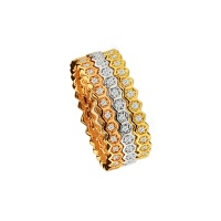 HONEYCOMB PAVE BANDS