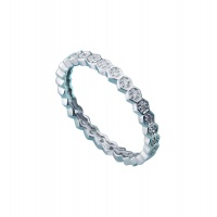HONEYCOMB PAVE WHITE GOLD BAND