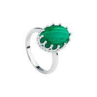 MALACHITE CROWN RING