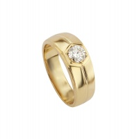 MENS CLASSIC HONEYOCOMB YELLOW GOLD RING