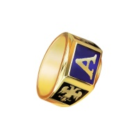 MENS INITIALS SYMBOLIC RING