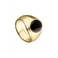 MENS ONYX OVAL CLASSIC RING