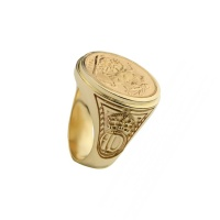 MENS PERSONALISED COIN RING