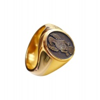 MENS PERSONALISED EAGLE RING