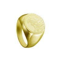 MENS PERSONALISED INITIAL YELLOW GOLD RING