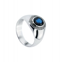 MENS SAPPHIRE OVAL MOTIF RING