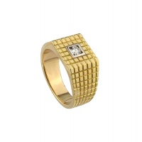 MENS SQUARE MOTIF RING