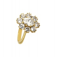 OVAL HALO YELLOW GOLD RING
