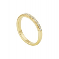 PAVE MOTIF YELLOW HALF ETERNTIY BAND