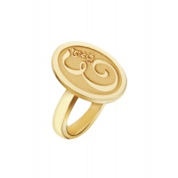 PERSONALISED INITIAL ROUND YELLOW RING
