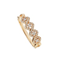 ROSE SQUARE MOTIF PAVE RING