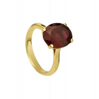 RUBY CLASSIC OVAL YELLOW GOLD RING