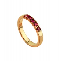 RUBY ROSE GOLD HALF ETERNITY RING