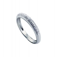 TRIPLE PAVE HALF ETERNITY BAND