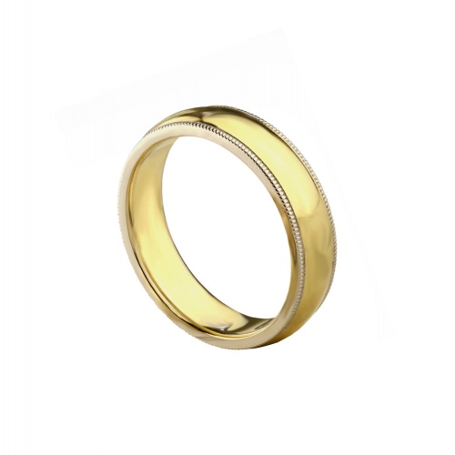 CLASSIC YELLOW GOLD BAND WHITE EDGE BAND